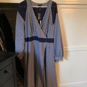 Dress, striped, Lane Bryant